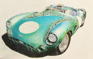 Aston Martin DBR1 by johnwickart