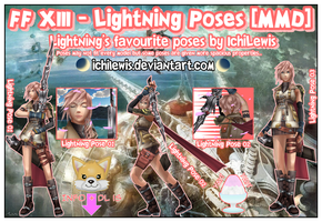 [MMD] FF XIII - Lightning Pose Pack + DL by IchiLewis