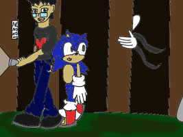 Sonic and Markiplier by Gheroes48