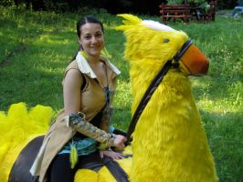 Chocobo and Me by chinako