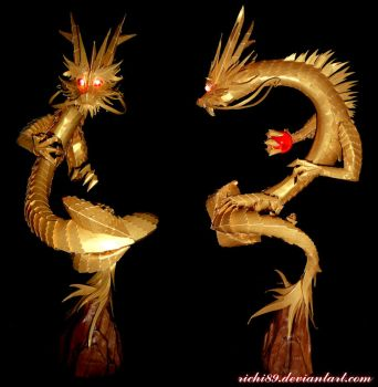 Golden Chinese Dragon by Richi89
