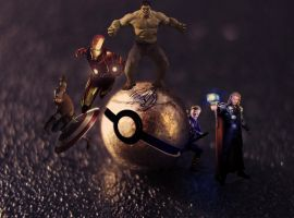 AVENGERS pokeball by Jonathanjo