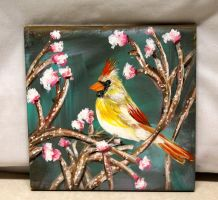 Blossom Cardinal by ThisArtToBeYours