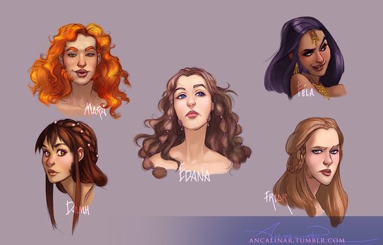 Dwarven Ladies by ancalinar