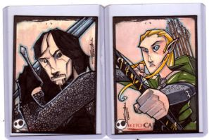 Sketchcards - Legolas-Aragorn by JeremyTreece
