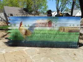 fence farm by Abuttonpress2Nothing