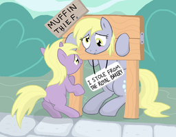 Punished Derpy by Shutterflye
