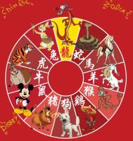 disney chinese zodiac by Disneyfanatic19