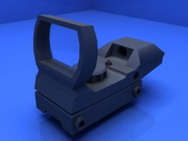 Red Dot sight Quick Shot 1x33 (3Ds Max) by jeoong94