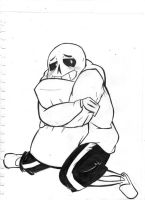 I Think Sans is in the Mood for Hugs by SmalltheCat