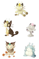 Meowth Variations
