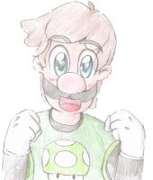 Luigi sketch by SuperLuigiFanDrawer