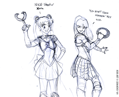 Playing Sailor Moon and Xena by Son-Neko