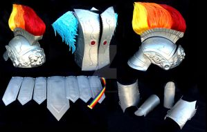 Rainbow Dash Crystal Empire Armour by CosplayPropMaster