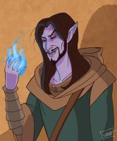 Jarvis the Dunmer Mage by SlayerSyrena