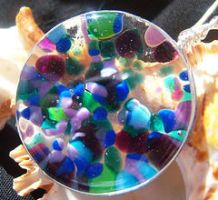 Fused Glass Color Explosion by FireChickTick