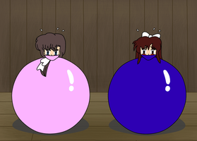 Ranma Girls Ball Bound by laprasking