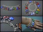 Legend of Zelda Seed Bead Charm Bracelet 1 by Pixelosis