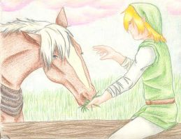 An Elf and His Horse by Shattered-Rayn