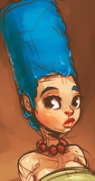Marge Simpson by atryl