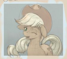 Applejack Portrait by GSphere