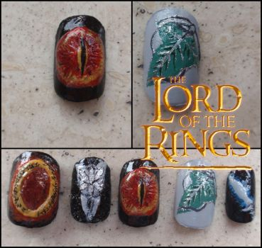 the Lord of the Rings nails by Ninails