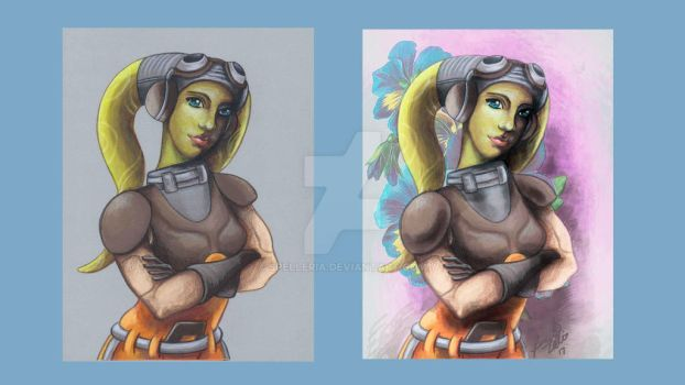 Hera from Star Wars Rebels (before and after) by spelleria