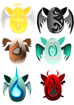::1/6 OPEN:: Elemental pony egg adopts (set price) by DragonDawn18