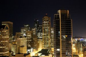 Seattle at Night II by patrick-brian