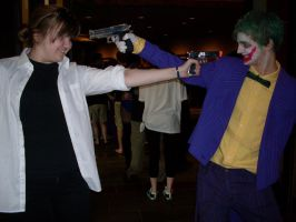Riza Hawkeye vs the Joker by chippy-lightgaia