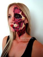 Face painting - Attack on Titan inspired by larahawker