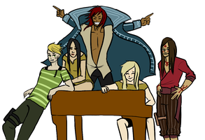 the crew having a good time by akatten
