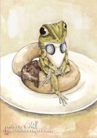 That frog likes doughnut and g by chills-lab