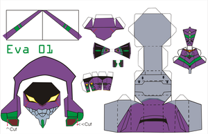 eva 01 pattern by Grim-paper