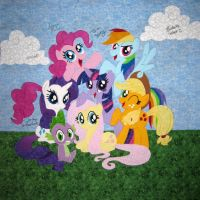EFNW Charity Quilt 2015 Center Square by WhiteHeather