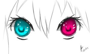 Anime : Eye test :D by BostaGold