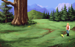 Forest Background - Quest for Glory IV by mrsilipo