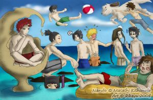 Naruto--Beach Boys by Rikayu-chan