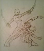Camy VS Ventress - sketch by Tipsutora