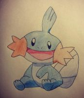 Mudkip Drawing by Krayzieee