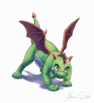 Green Hatchling by DaffoDille
