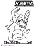 SlugTerra Earth Elemental coloring Page SKGaleana by SKGaleana