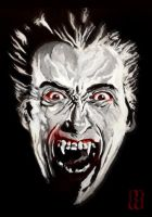 Christopher Lee as Dracula by markwilliams