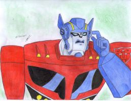 Optimus Prime making a call TA by ailgara