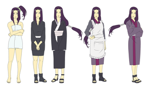 Mrs. Hyuuga Outfits Color by SunakiSabakuno