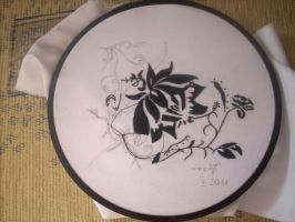 Black Flowers - Embroidery by MimiruSabishii