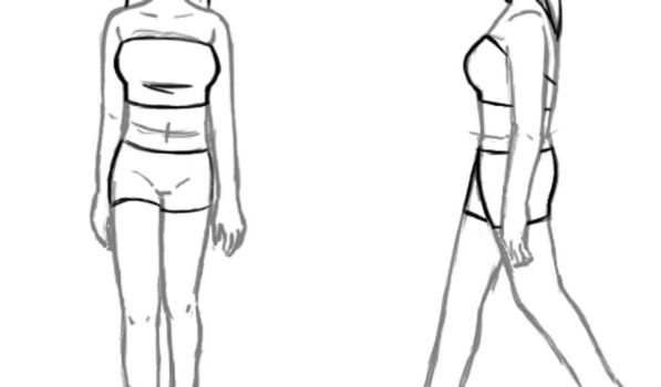 Animation Practice - Female Walk by sherbertKISSES