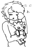 Stream (20.9.14) - Sleepy Link with Dodongo Plush by angel-light123