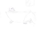 Just a bath by SaintNina