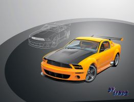 Mustang GT-R concept -1 by johnson6277